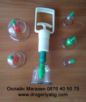 Вендузи комплект 6 чашки с помпа